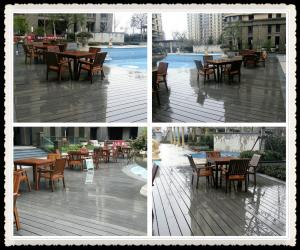 China WPC garden decking on sale