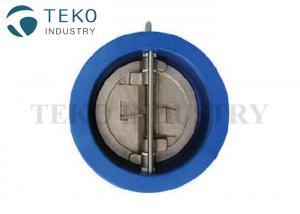 China PN10 Duo Plate Wafer Check Valve For Water Works Cast Iron Body SS Disc on sale