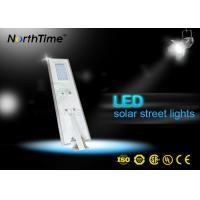China Parking Lots Monocrystalline Solar Panel Street Lights With PIR Motion Sensor on sale
