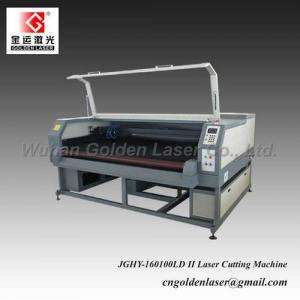 China Auto Feeding Double Head Laser Cutting Machine for Fabric on sale