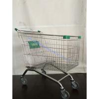 Zinc Powder Supermarket Shopping Cart European with Swivel Wheels