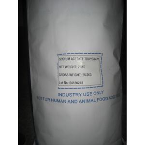 China Pharmaceutical Grade Sodium Acetate Trihydrate BP/ USP/ EP CAS 6131-90-4 on sale
