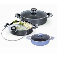 18 20 22 Cm Non Stick Sauce Pot , 3pcs Rice Pot Set Kitchenware