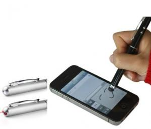 China 3 IN 1 multifunction mini Capacitive Screen touch Stylus Pen with LED light laser pointer on sale