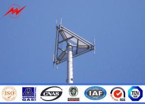 China 27M 500kv Steel Telecom Camouflaged Antenna Mono Pole Tower For Communication on sale