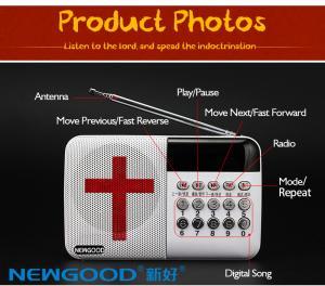 China Bible usb mini fm radio speaker on sale