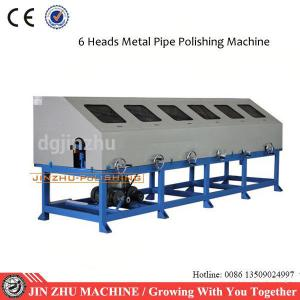 China Automated Ss Pipe Polishing Machine Low Noise Level Vibration With Six Heads on sale