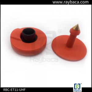 China RFID Livestock Tags Red Colour Two Pieces  Can Laser Printing For Cattle,pig on sale