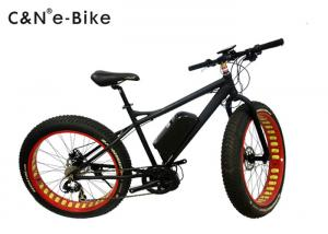 China Black Color Electric Fat Tire Sand Bike With Electric Mid Drive Motor on sale