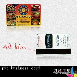 China 0.76mm Blue PVC Magnetic Stripe Cards Offset Printing With Signature Panel on sale