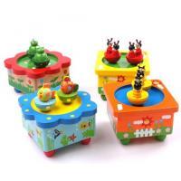 Wooden animal musical box