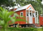 Modern Color Prefabricated Light Steel Tiny House on wheels with trailer