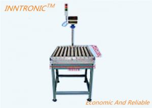 China 600*600mm Fast Speed roller Conveyor Scale with alarm and sticker printer on sale