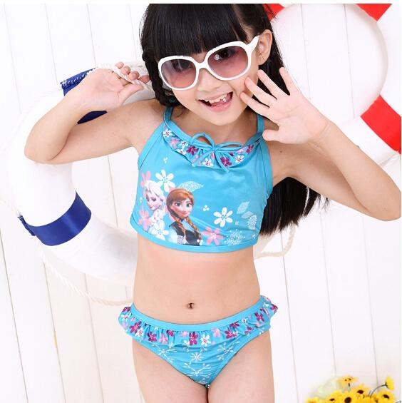 c2004fb772 Hot sexy young baby girls queen elsa anna frozen swimming costumes Images