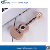Promotion gift PVC material and guitar shape music instruments usb flash drive memory