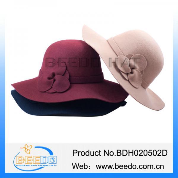 6a1708a90f48 Fashion ladies wide brim wool felt floppy hat wholesale for sale ...