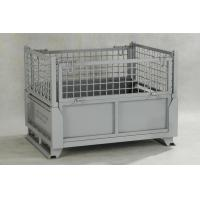 IBC Metal Cage Warehouse Metal Storage Bins With Gray Painted Foldable Metal Cage