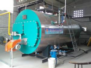 China High Efficiency Light Oil Fired Heating Boilers For Dry Cleaning Machine 4000kg/H on sale