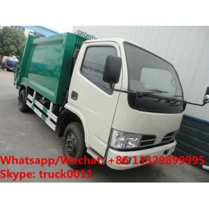 China HOT SALE! exported model- Dongfeng RHD 4*2 5m3 small garbage compactor truck, refuse garbage truck on sale