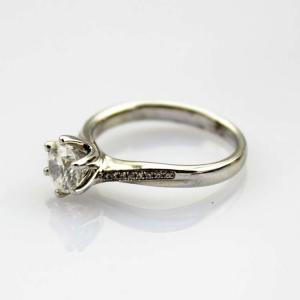 China 925 Silver Women Ring 6mm Round CZ Diamonds Engagement Ring(R284) on sale