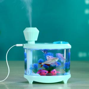 China Fish Tank LED Light Humidifier Air Diffuser Purifier Atomizer essential oil diffuser difusor de aroma mist maker fogger on sale