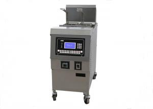 China Meat Donut Potato 25L Electric Automatically Lift Open Fryer 1 Year Warranty on sale