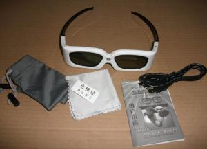 China Home Theater DLP Link 3D Glasses 120hz 2.2ma High Transmittance on sale