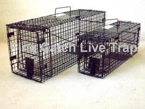 China Coelho humano de dobramento do cão do gato do gambá da armadilha da gaiola on sale