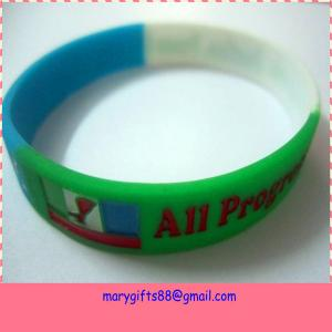 China factory best selling the cheapest customized colored bangle with silicone material on sale