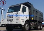 Chinese Sinotruk Mining Dump Truck , 70 Tons 6x4 LHD Big Dump Trucks