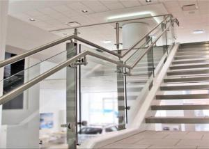China Stainless Steel Railing Systems Round Post with Round Glass Clamps for Handrail on sale