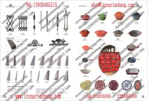 China wrought iron materials and cast iron cook ware on sale