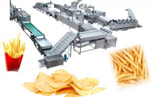 China 500 KG/H Automatic French Fries Production Line on sale