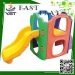 Cute Kindergarten Toddler Playset With Slide Plastic Paradise Material
