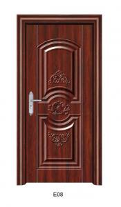 China Wood Grain Color Steel Decorative Security Doors / Metal Security Doors For Houses on sale