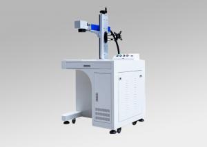 China 20w 30w 50w Desktop Fiber Laser Marking Engraving Machine for Metallic on sale