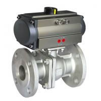 304 316 Sanitary Stainless Steel Pneumatic Actuator Ball Valve