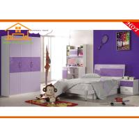 2015 latest simple wooden kids bedroom Brown and white cartoon kid bed children bedroom