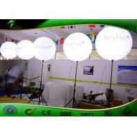Outdoor Inflatable Lighting Decoration , Inflatable Advertising LED Balloon Stand Lights