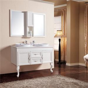 China Moisture Proof Bathroom Sinks And Vanities / Double Sink Vanity Corrosion Resistance on sale