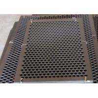 Round Hole Perforated Steel Sheet , Q235 Steel Galvanised Perforated Sheet