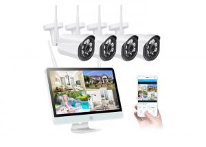 China 720P 4 channels WiFi CCTV Camera Kit 30 Meters IR Range Real Time Remote Monitoring on sale