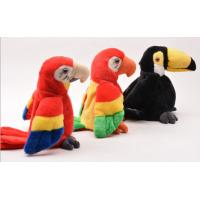 Educational Interactive Talking Plush Toys Musical Parrot For Festival