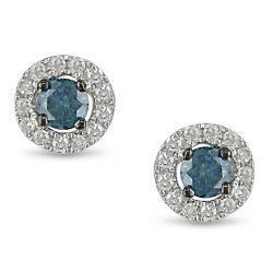 China 18k white gold blue topaz and diamond earrings,diamond jewelry,gemstone earrings,gold jewelry on sale