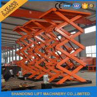 Material Handling Warehouse Elevator Lift , Hydraulic Upright Scissor Lift Workbench