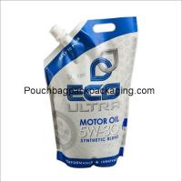 China Free stand up spout pouch, laminated spout pouch for motor oil on sale