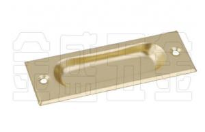 China Brass Plated Flat Metal Drawer Pulls Customized Furniture Fitting on sale