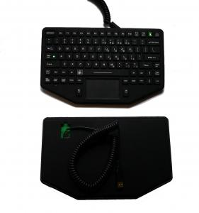 China Ruggedized embedded silicone rubber military keyboard with wide temperature and emergency button on sale
