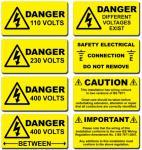 警告のステッカー、lable 警告