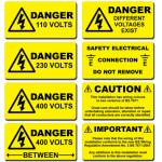 etiqueta de advertência, etiqueta de advertência